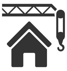 Home construction flat icon vector