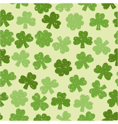 Green seamless clover pattern vector