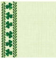 Saint Patrick border vector image