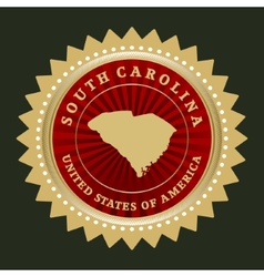 Star label south carolina vector