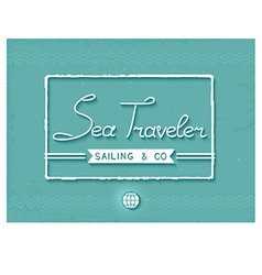 3d sea traveler print vector