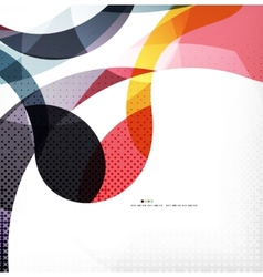 Colorful swirl wave lines vector