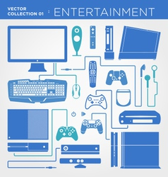Entertainment collection vector