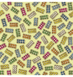 Pharmaceutical seamless pattern vector