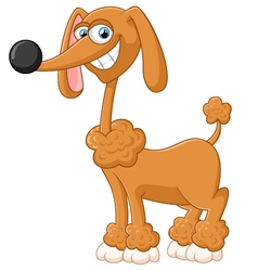 Cartoon adorable dog posing vector