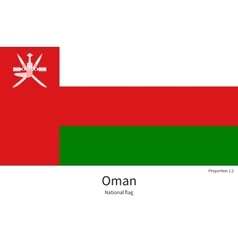 National flag of Oman with correct proportions vector image
