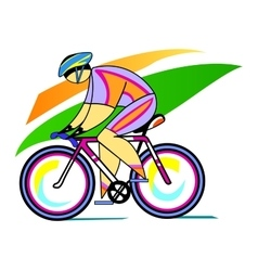 Male olympic cyclist vector