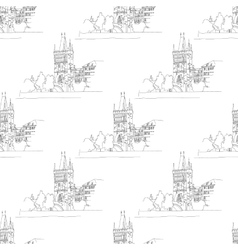 Charles bridge seamless vector