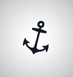 Pirate anchor flat icon theme vector