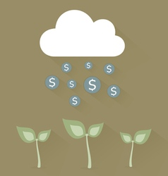 Cloud and dollar vector image vector image