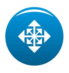 cursor displacement arrow icon blue vector image vector image