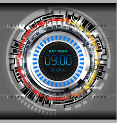 cyber timer tech vector image vector image