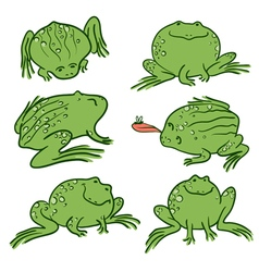 doodle frogs vector image