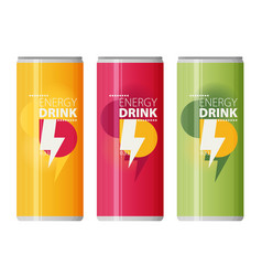 Energy drink design over white background vector