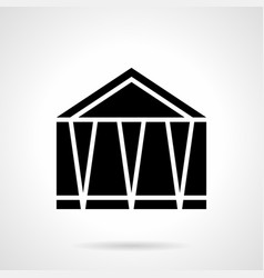 Fair marquee glyph style icon vector