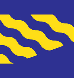 Flag of norrbotten province in northernmost sweden vector
