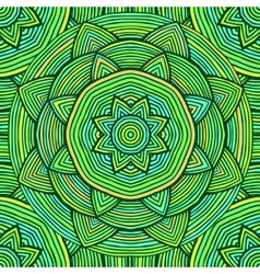 Green Ethnic Pattern vector image vector image