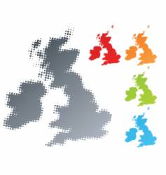 halftone UK Ireland vector image vector image
