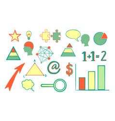 hand drawn business symbols vector image
