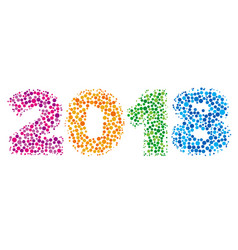 happy new year 2018 concept - number from dots vector image vector image