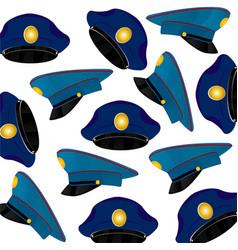 Headdress service cap pattern vector