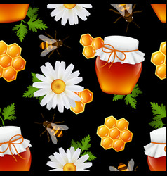Honey seamless pattern vector image vector image