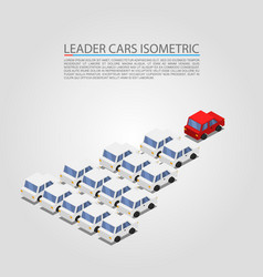 leader car isometric object vector image vector image