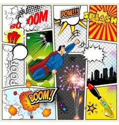 Mock-up of a typical comic book page vector image