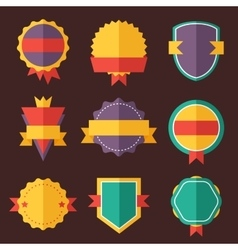 Modern flat design badges collection vector