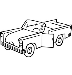 old fashioned car vector image vector image
