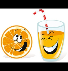 orange and juice vector image