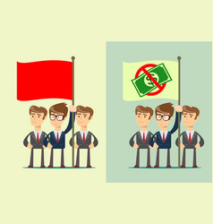people with flag set stock flat vector image