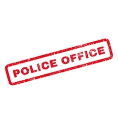 Police office rubber stamp vector