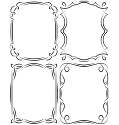 set of frames design elements Editable file vector image vector image