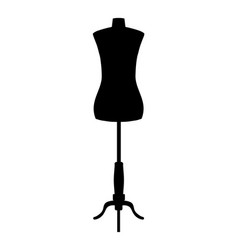 Silhouette of tailors dummy mannequin vector