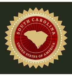 Star label south carolina vector
