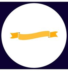 Wave ribbon computer symbol vector image vector image
