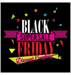 Sale black friday vector