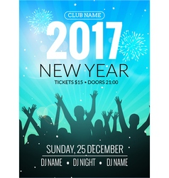 2017 nyew year party dance people background event vector