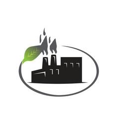 Factory pollution icon vector