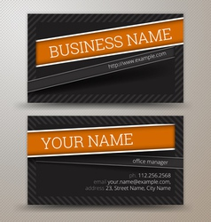 Creative business cards set template vector
