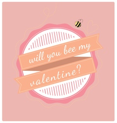 Valentines day bee vector