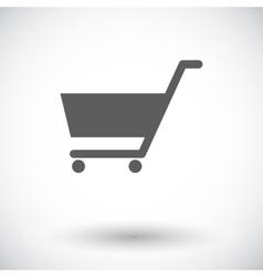 Cart single icon vector image