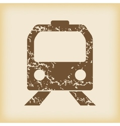 Grungy train icon vector