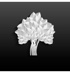 White tree - individual elements for easy changes vector