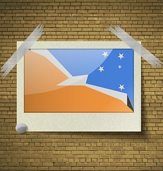 Flags of tierra del fuego provinceat frame on a vector
