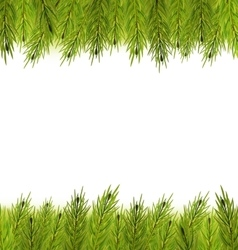 Christmas frame made in fir branches vector