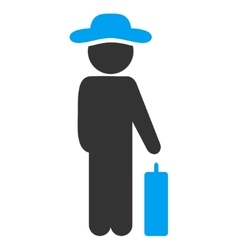 Gentleman baggage icon vector