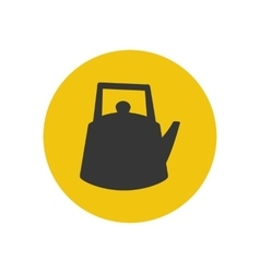 Kettle silhouette icon vector