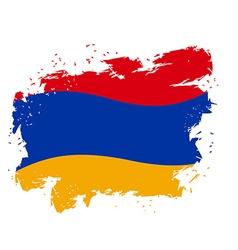 Armenia flag Grunge style on gray background Brush vector image vector image
